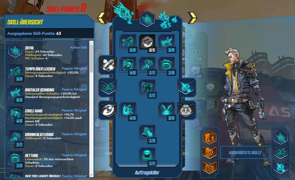 Borderlands 3 Level 65 Build Zane Auftragskiller