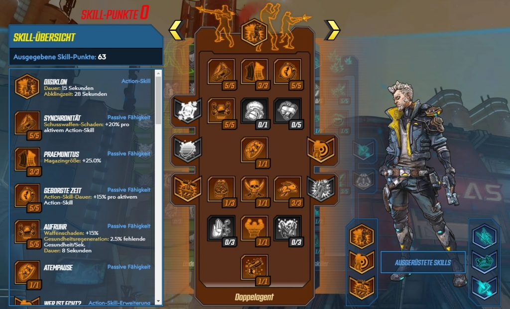 Borderlands 3 Level 65 Build Zane Doppelagent