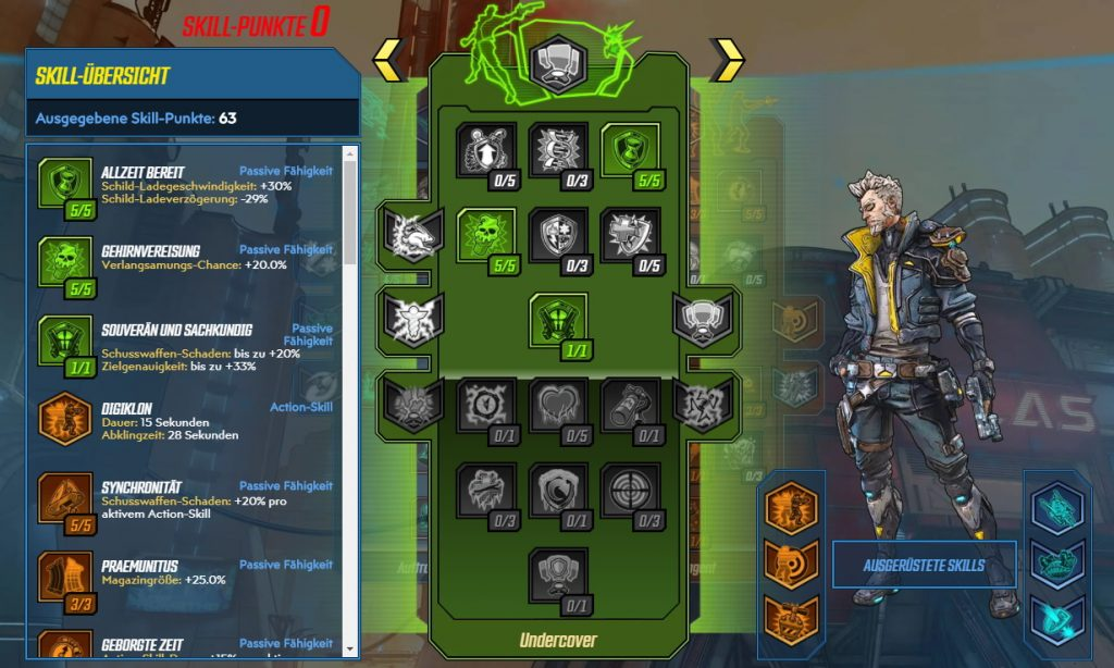 Borderlands 3 Level 65 Build Zane Undercover