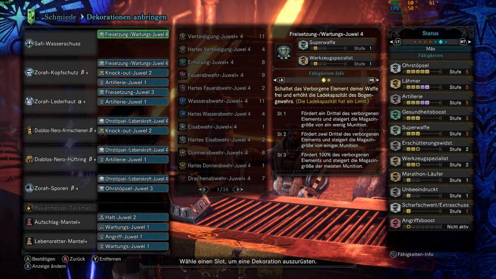 Monster Hunter World Rajang Build Fähigkeiten