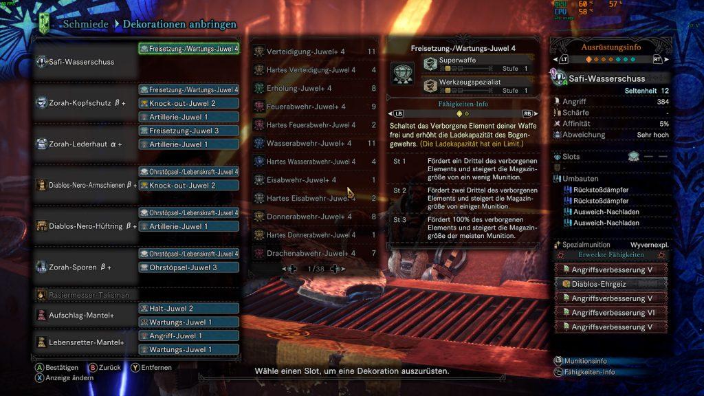 Monster Hunter World Safi-Wasserschuss Rajang Build