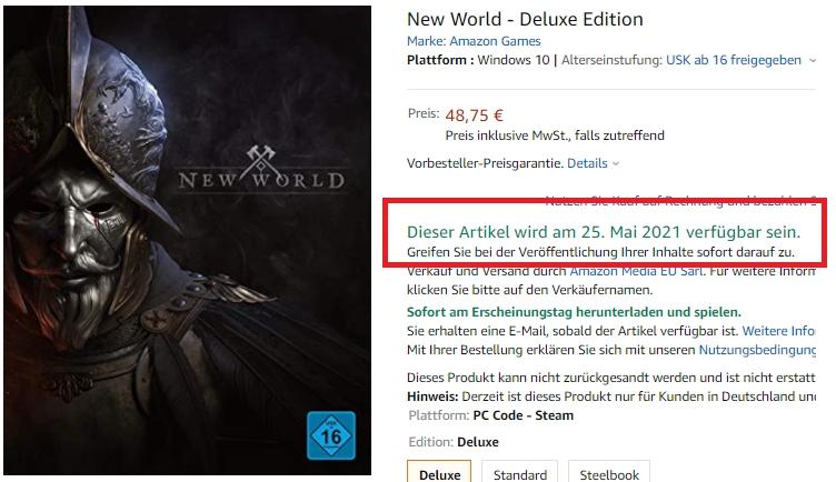 New World Release Kasten