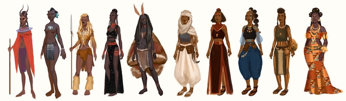 The Wagadu Chronicles Charaktere