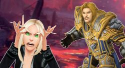 WoW Angry Belf and anduin titel title 1280x720