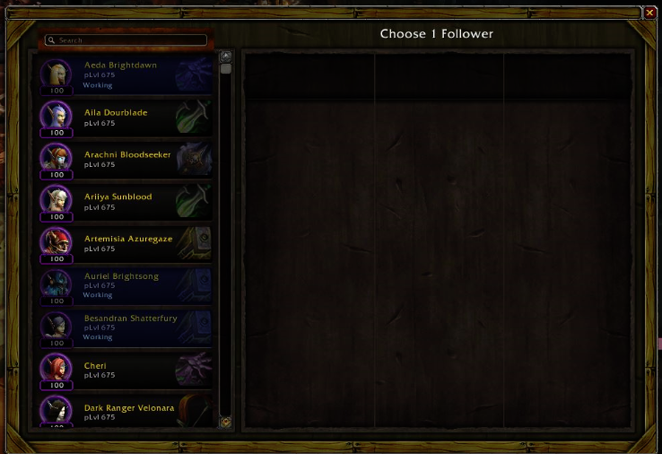WoW Garrison Follower Complete 299