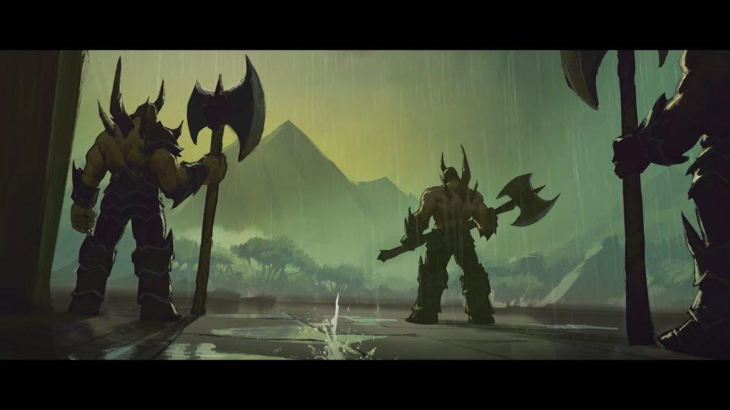 WoW Maldraxxus Cinematic Demons from behind