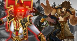 WoW Priest angry tauren Troll Cower titel title 1280x720