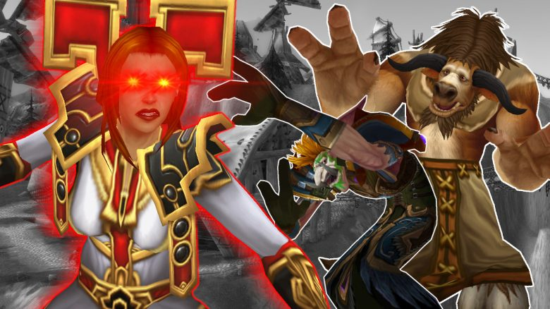 WoW Priest angry tauren Troll Cower titel title 1280x720