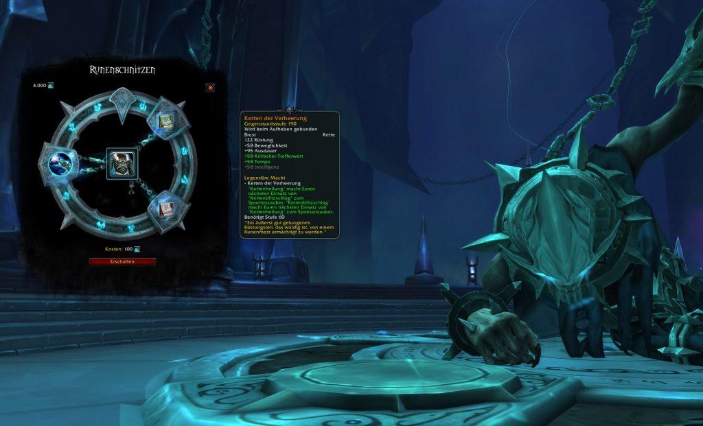 WoW Shadowlands Runenmetz Legendary