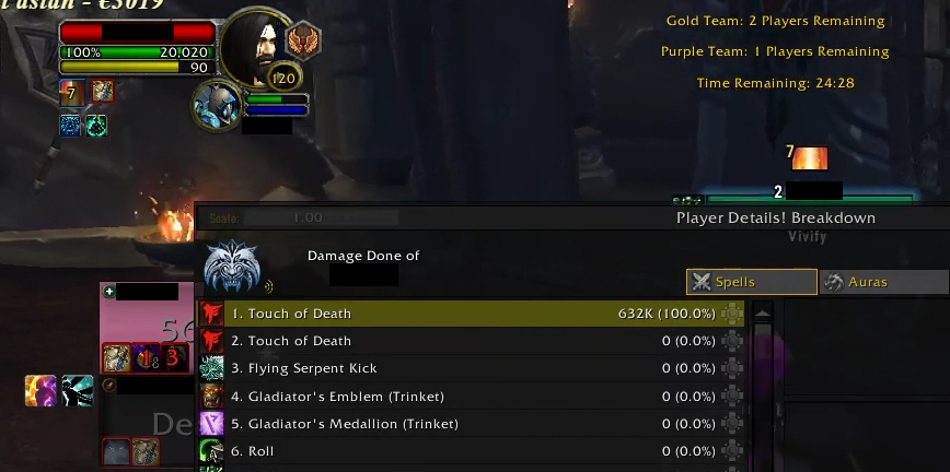 WoW Touch of Death Kill