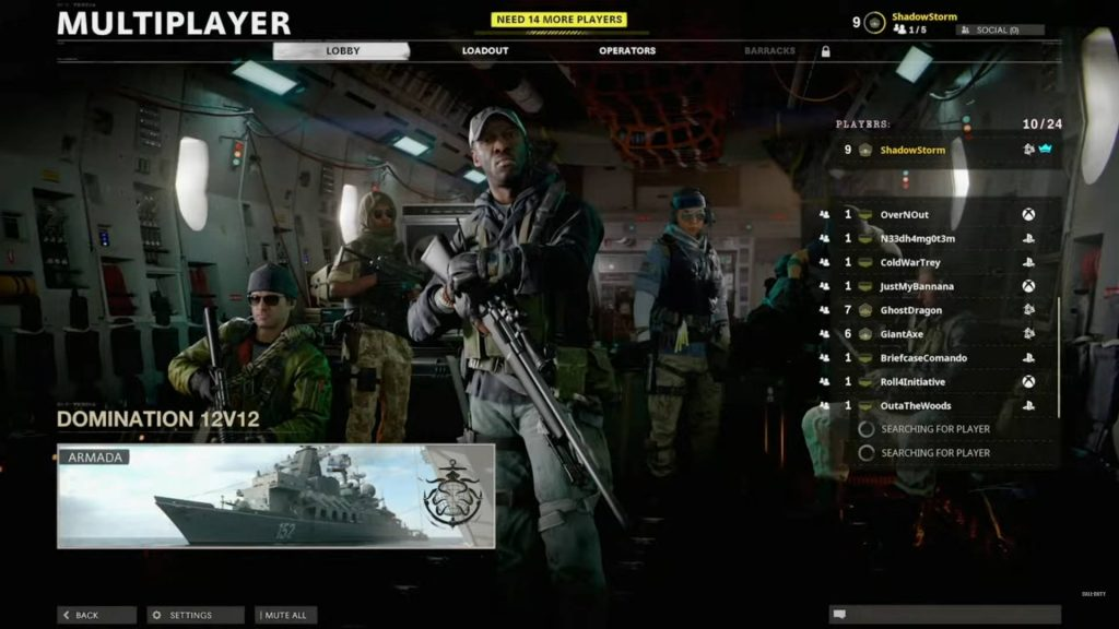 cod cold war multiplayer reveal das lobby