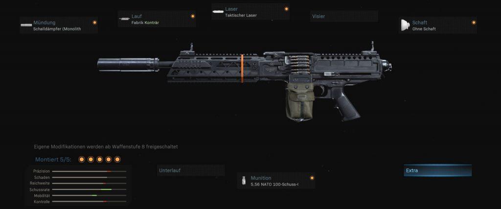 cod modern warfare warzone waffen finn lmg setup run&gun