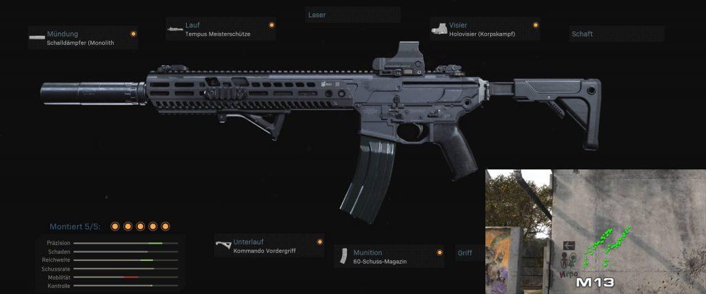 cod warzone stabile waffen M13 setup