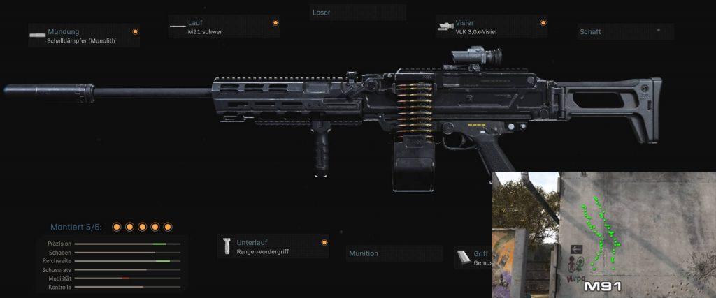 cod warzone stabile waffen m91 setup