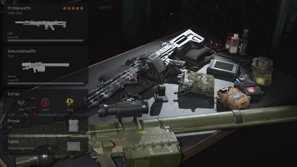 cod warzone wichtige loadouts geist loadout allround