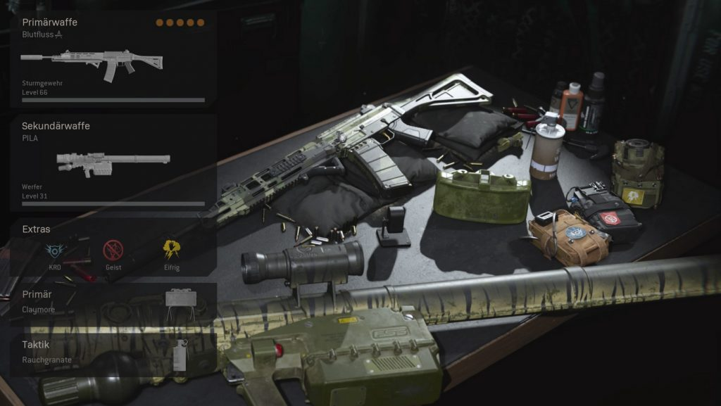 cod warzone wichtige loadouts geist loadout sniper