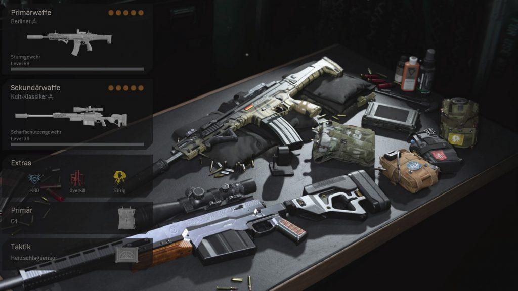 cod warzone wichtige loadouts haupt loadout overkill