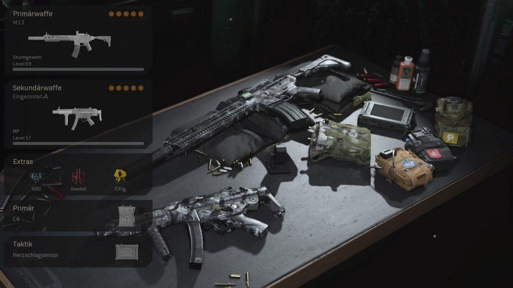 cod warzone wichtige loadouts overkill loadout panik