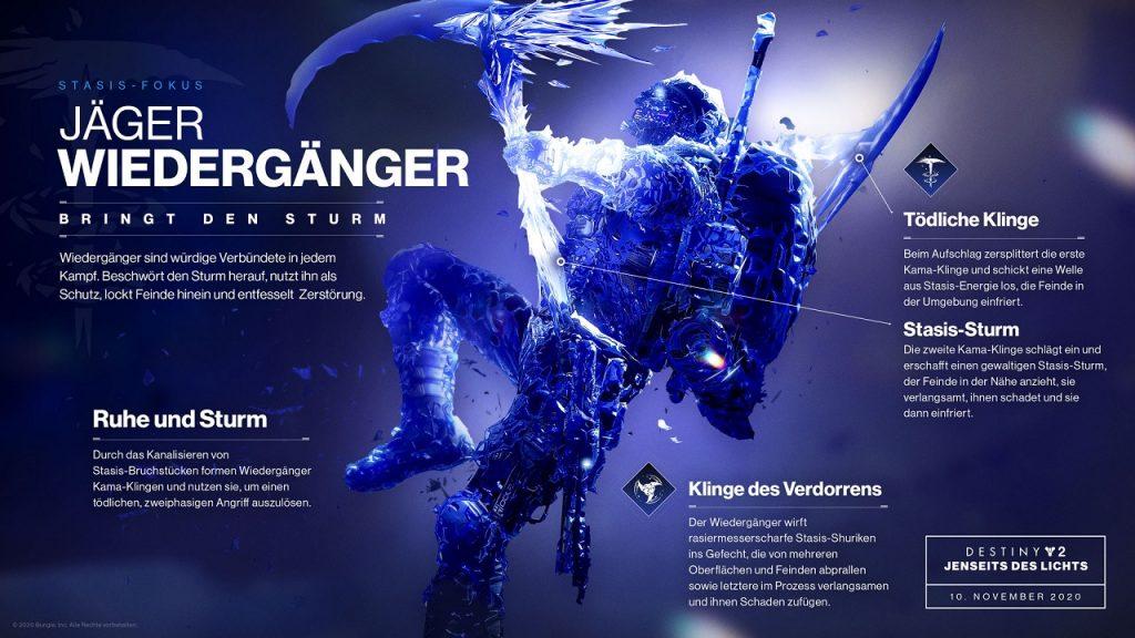 destiny 2 Jäger Revenant Wiedergänger Skills Beyond Light