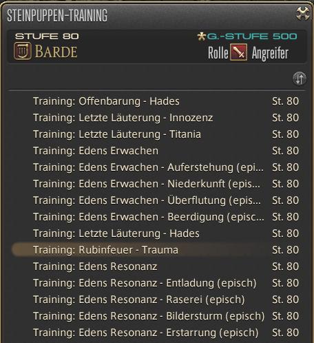 final fantasy puppen training