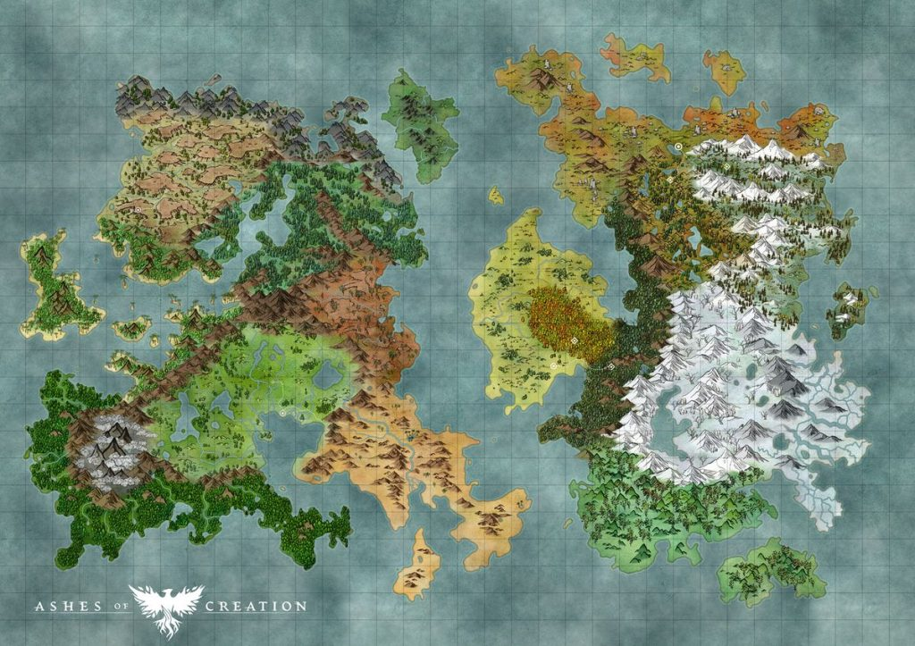 Ashes of Creation Map