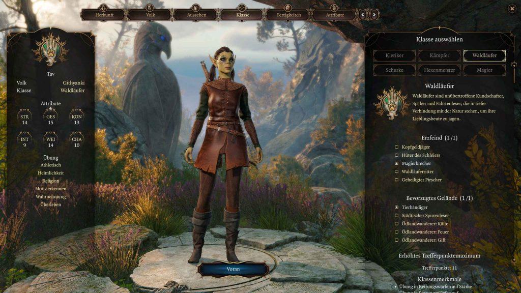 Baldurs Gate 3 Charaktererstellung