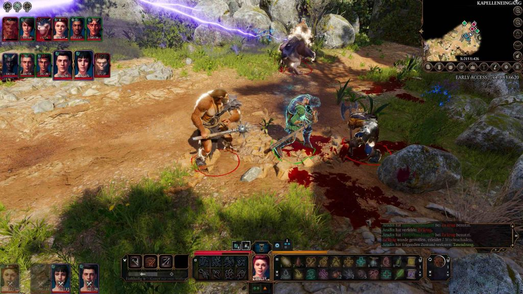 Baldurs Gate 3 Multiplayer Kampf CLose