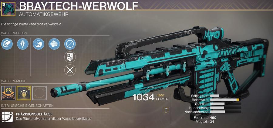 BrayTeach Werwolf 2020 Waffe Festival Lost Destiny 2