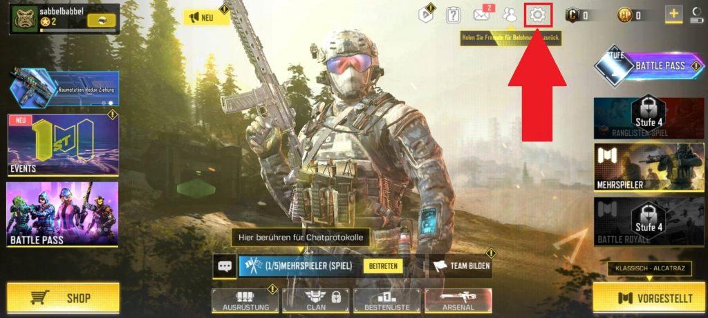 CoD Mobile Titel Screen