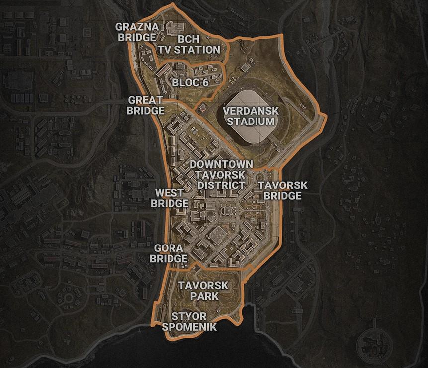 CoD Warzone Sektor 4 Mitte und Süden