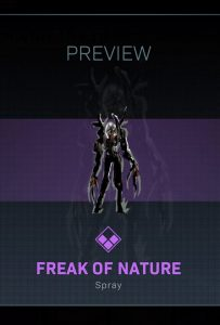 CoD Warzone Trick or Treat Freak of Nature Spray