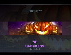 CoD Warzone Trick or Treat Pumpkin Peril Calling Card