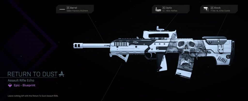 CoD Warzone Trick or Treat Return To Dust Assault Rifle Echo