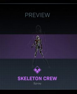 CoD Warzone Trick or Treat Skeleton Crew Spray