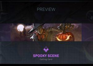 CoD Warzone Trick or Treat Spooky Scene Calling Card