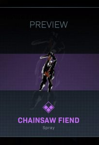 CoD Warzone Trick or Treat The Chainsaw Fiend Spray