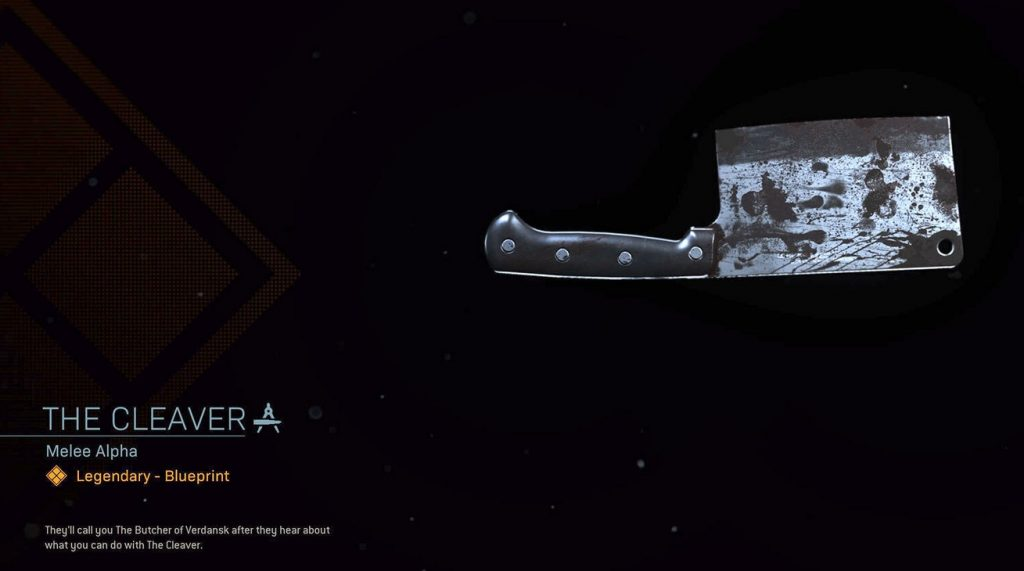 CoD Warzone Trick or Treat The Cleaver Nahkampf