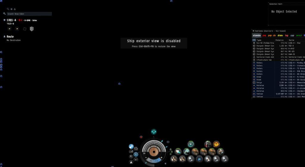 EVE Online ohne Grafik