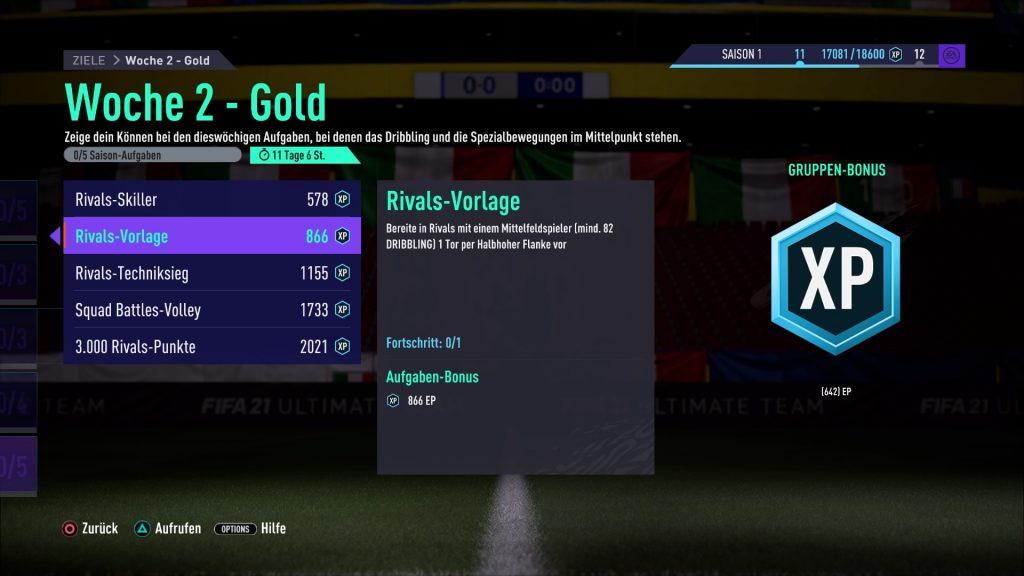 FIFA 21 halbhohe Flanke
