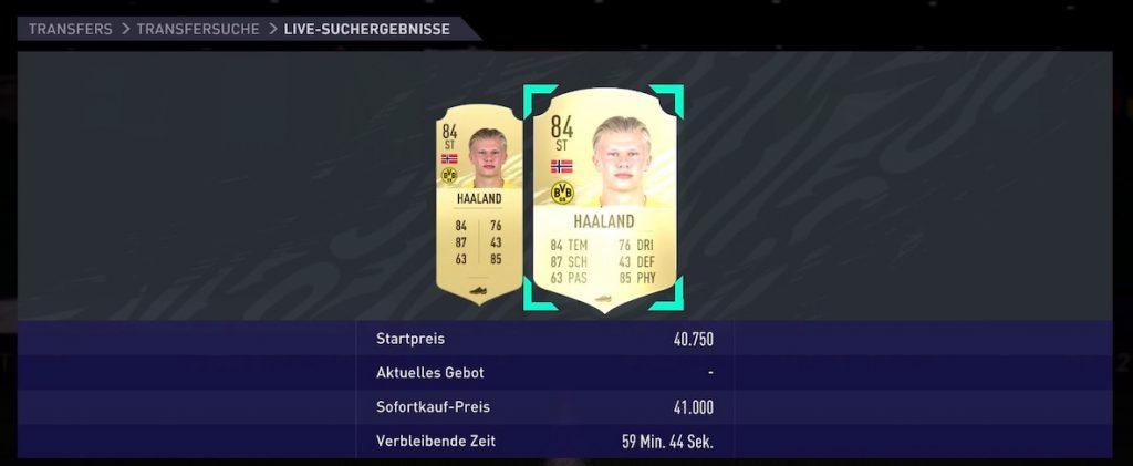 FIFA 21 Haaland preis