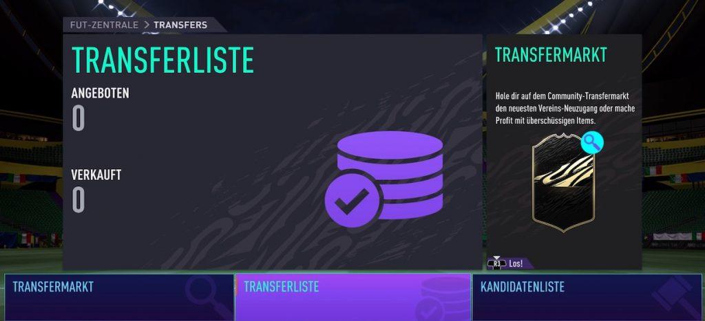 Transferliste FIFA 21