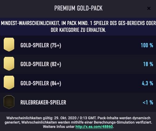FIFA 21 Pack Chancen