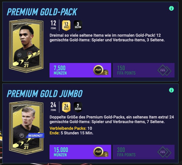 FIFA 21 Packs