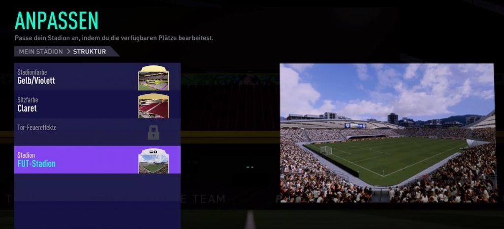 FIFA 22 Karrieremodus stadion