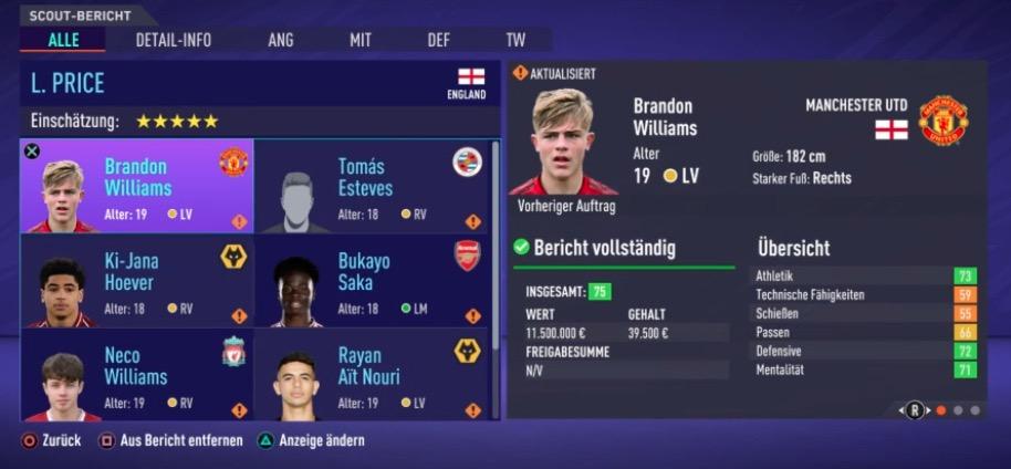 RV LV Talente FIFA 21