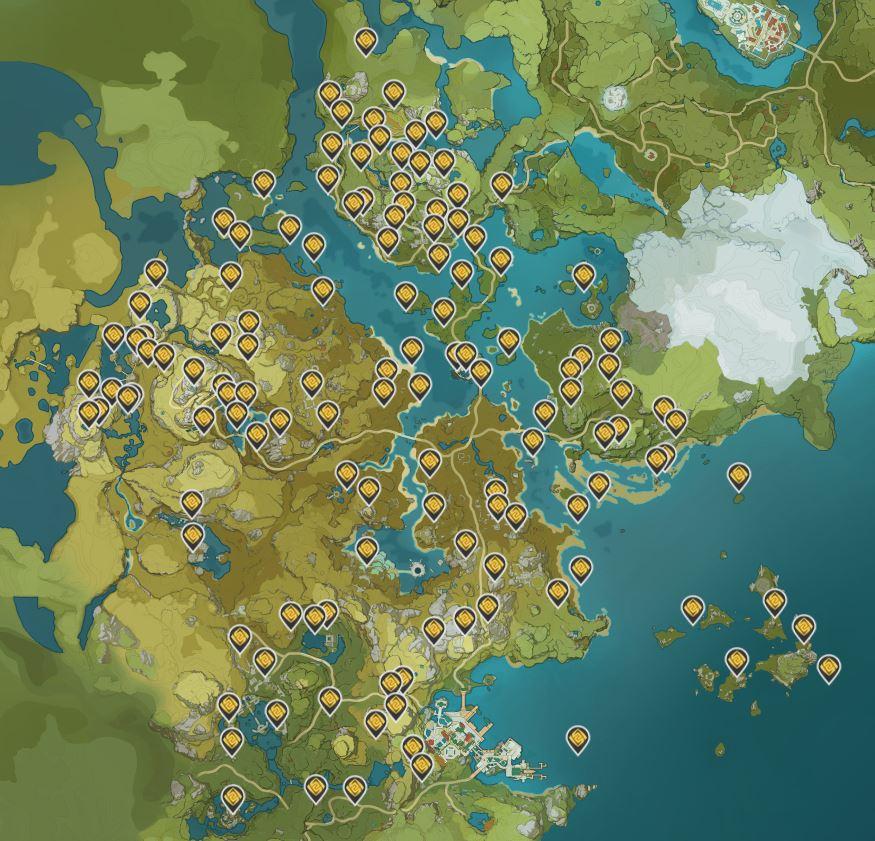 Geoculus Genshin Impact Map