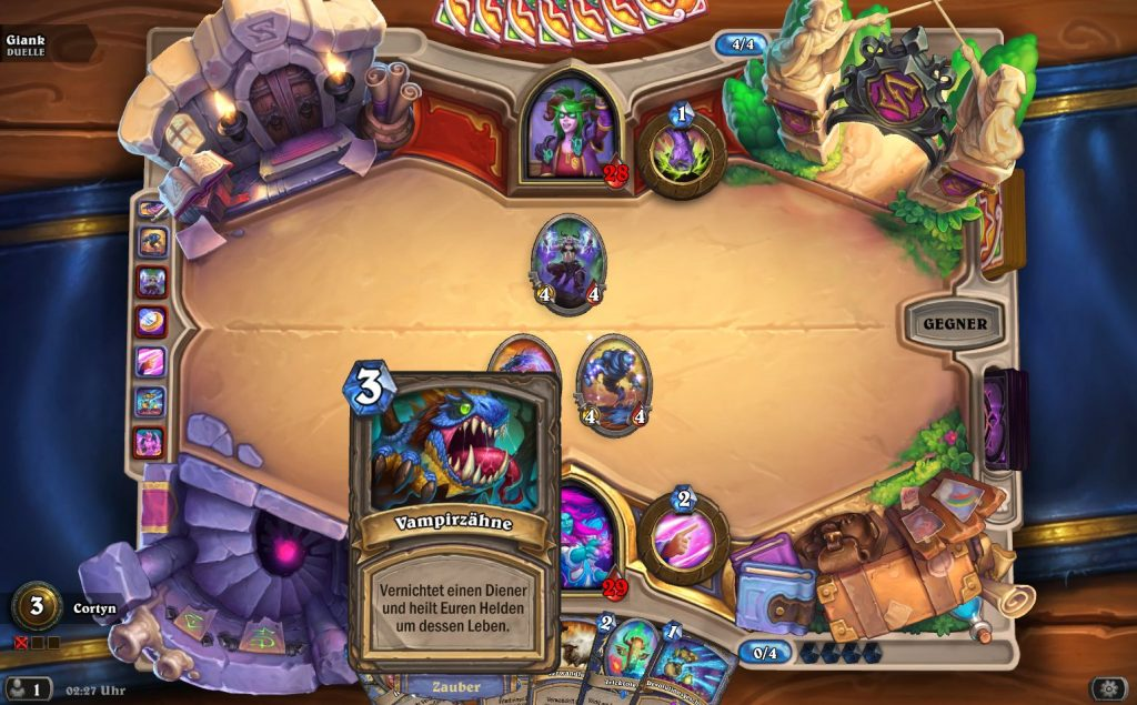 Hearthstone Duells Gameplay