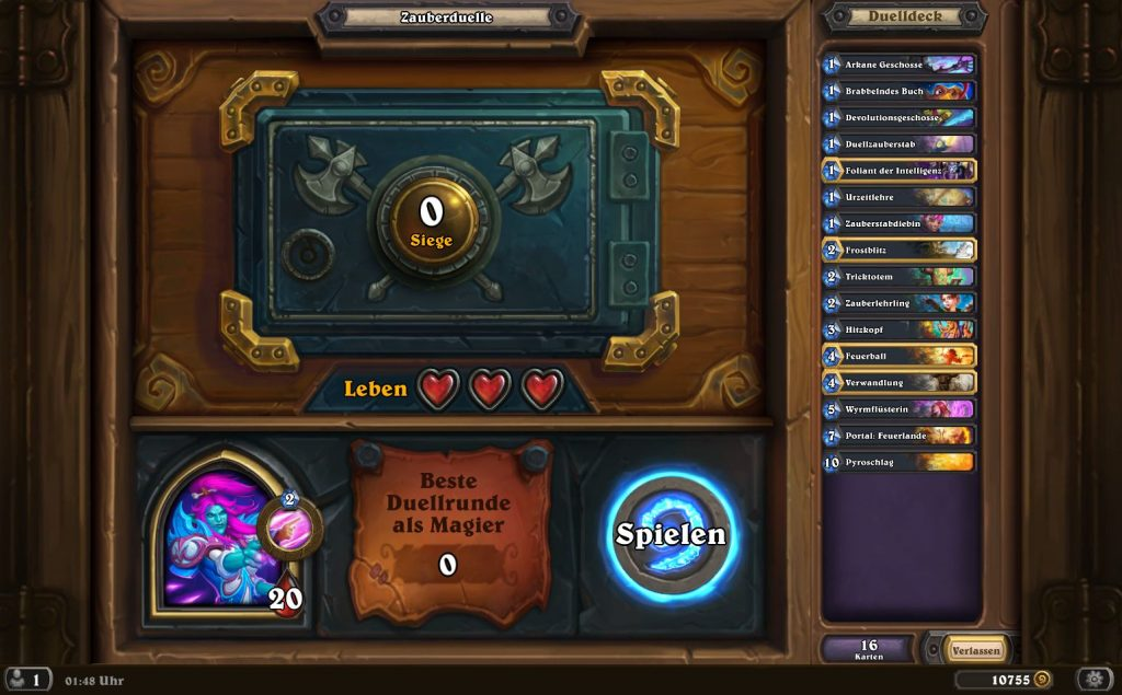 Hearthstone Duells Gameplay 2