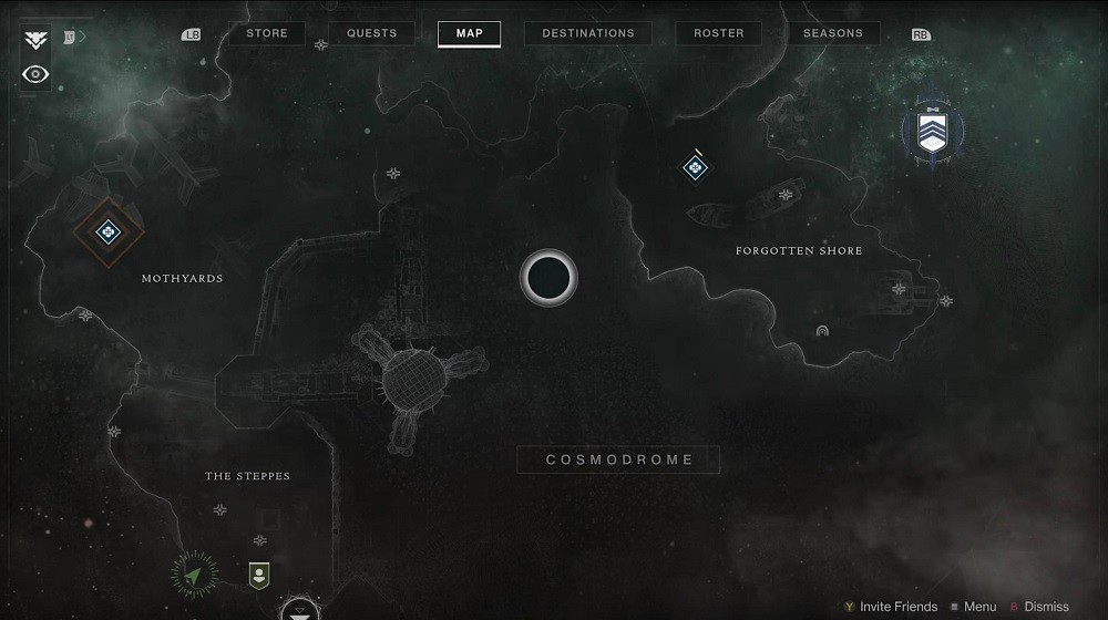 Kosmodrom Beyond Light Start Location Destiny 2