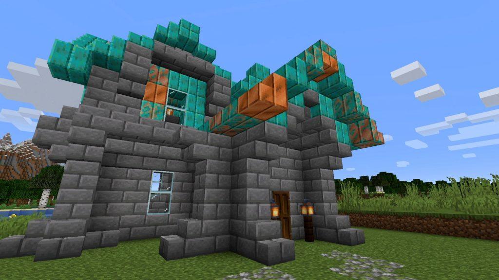 Minecraft-Kupfer-Dach-Haus